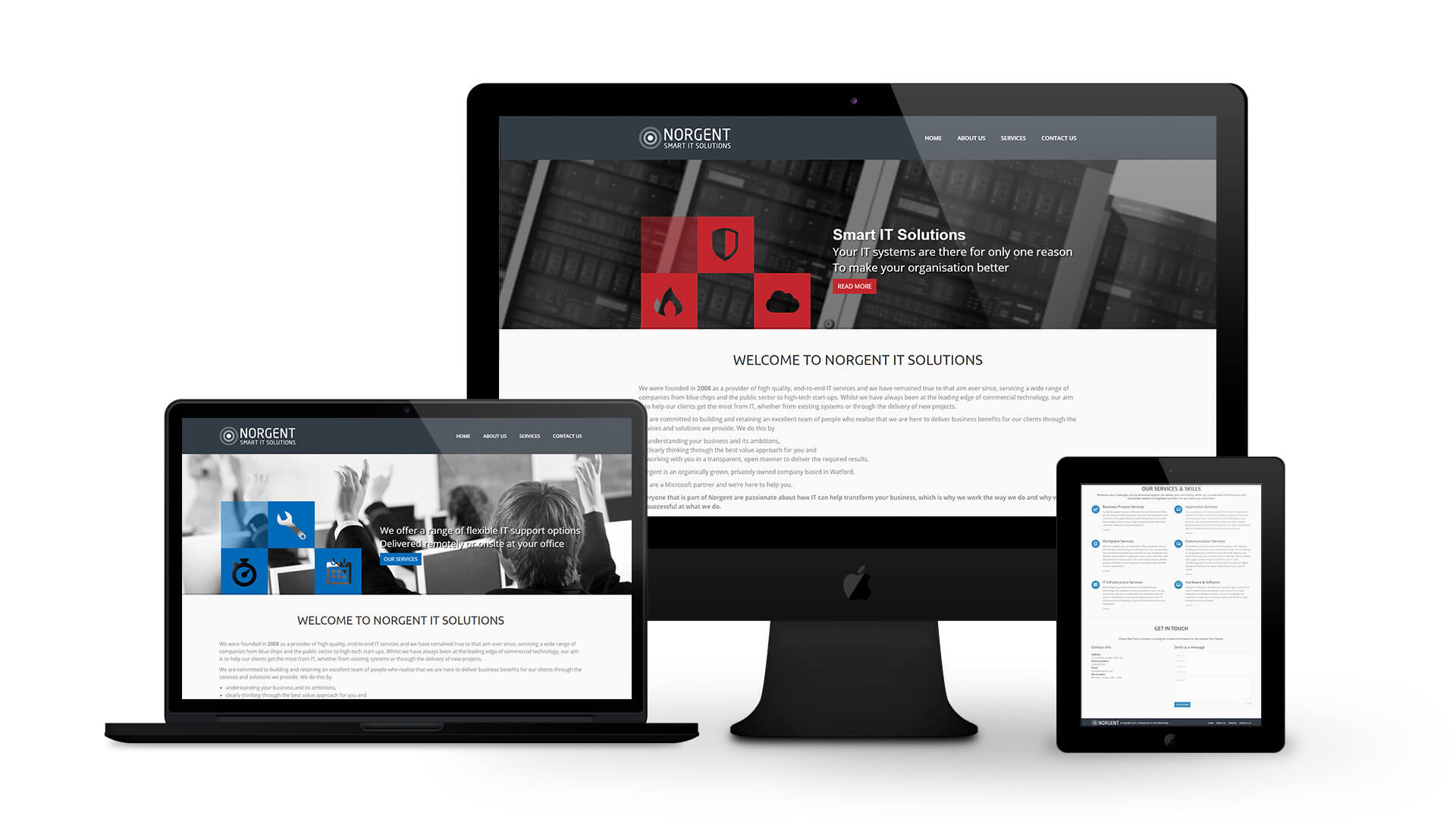 Norgent IT Services - By Ice Cube Web Design
