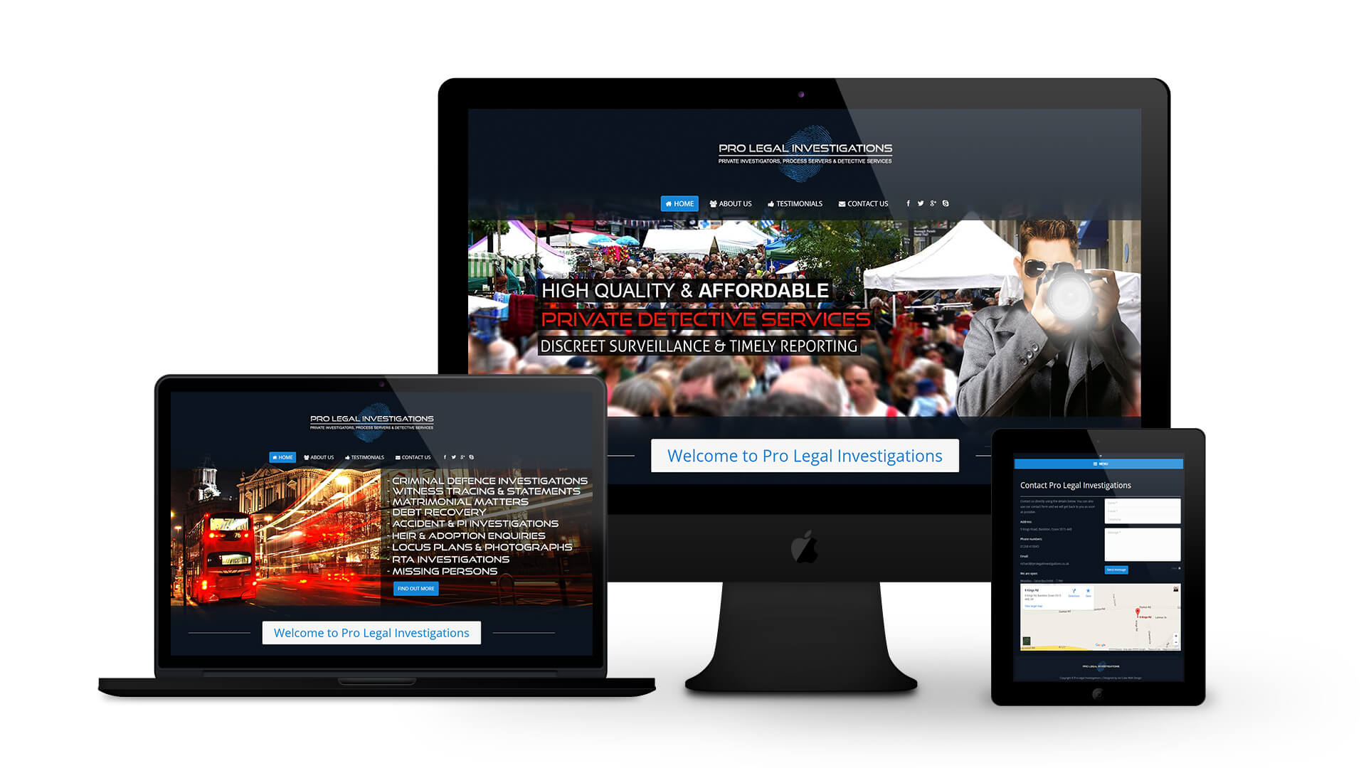 Pro Legal Investigations - By Ice Cube Web Design